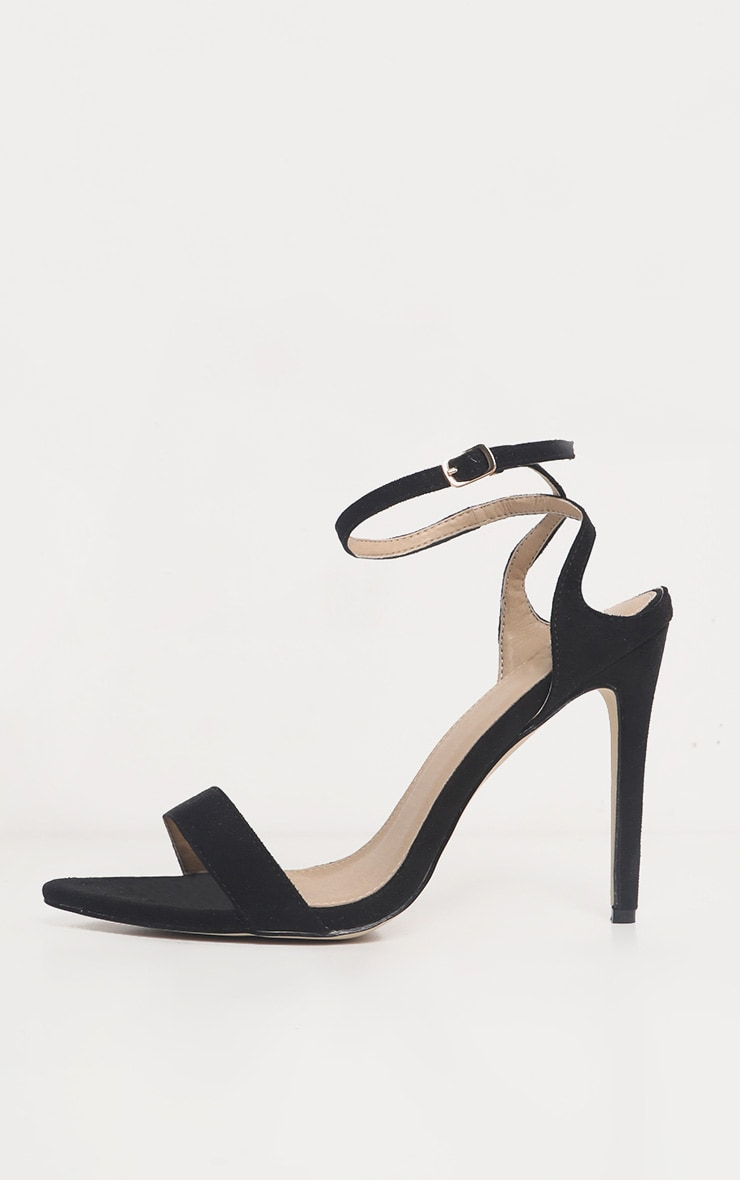 Black Point Toe Ankle Strappy Heel 4