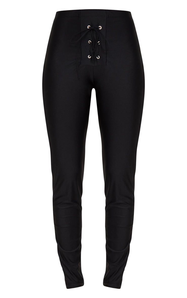 Black Lace Up Disco Pants 3