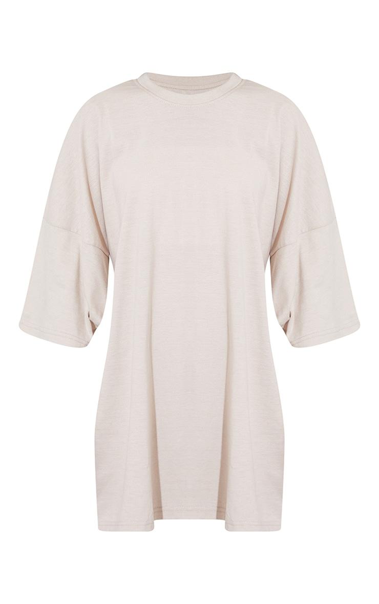 Oatmeal Seoul South Korea Slogan Short Sleeve T Shirt Dress 5