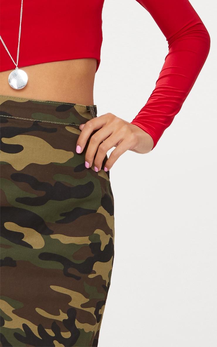 Minijupe en jean camouflage 6
