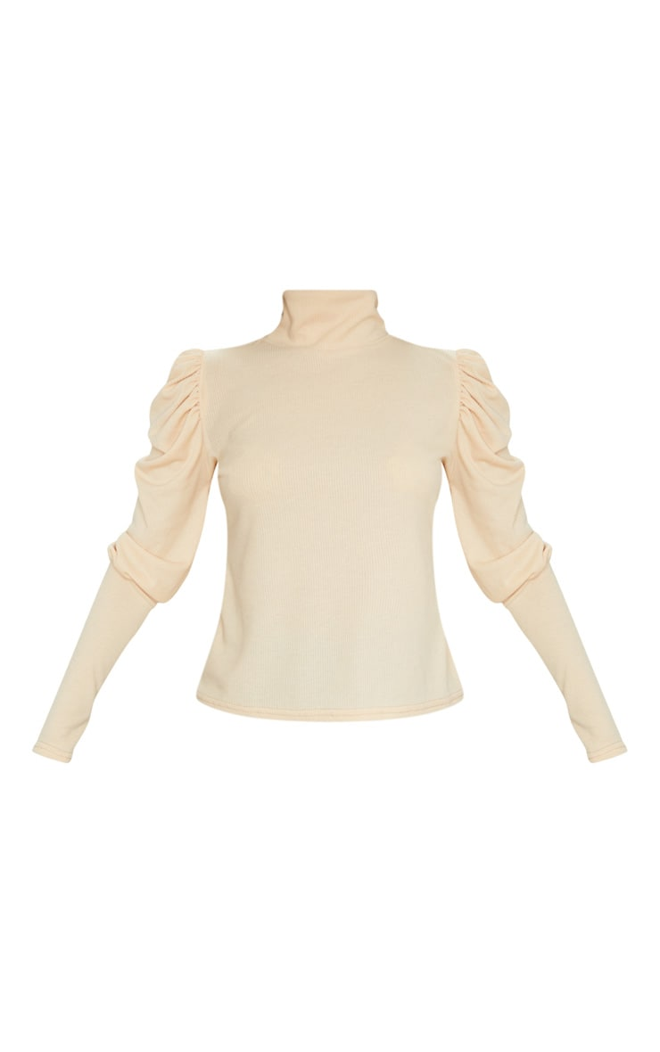 Sand Rib Puff Sleeve Long Top 5