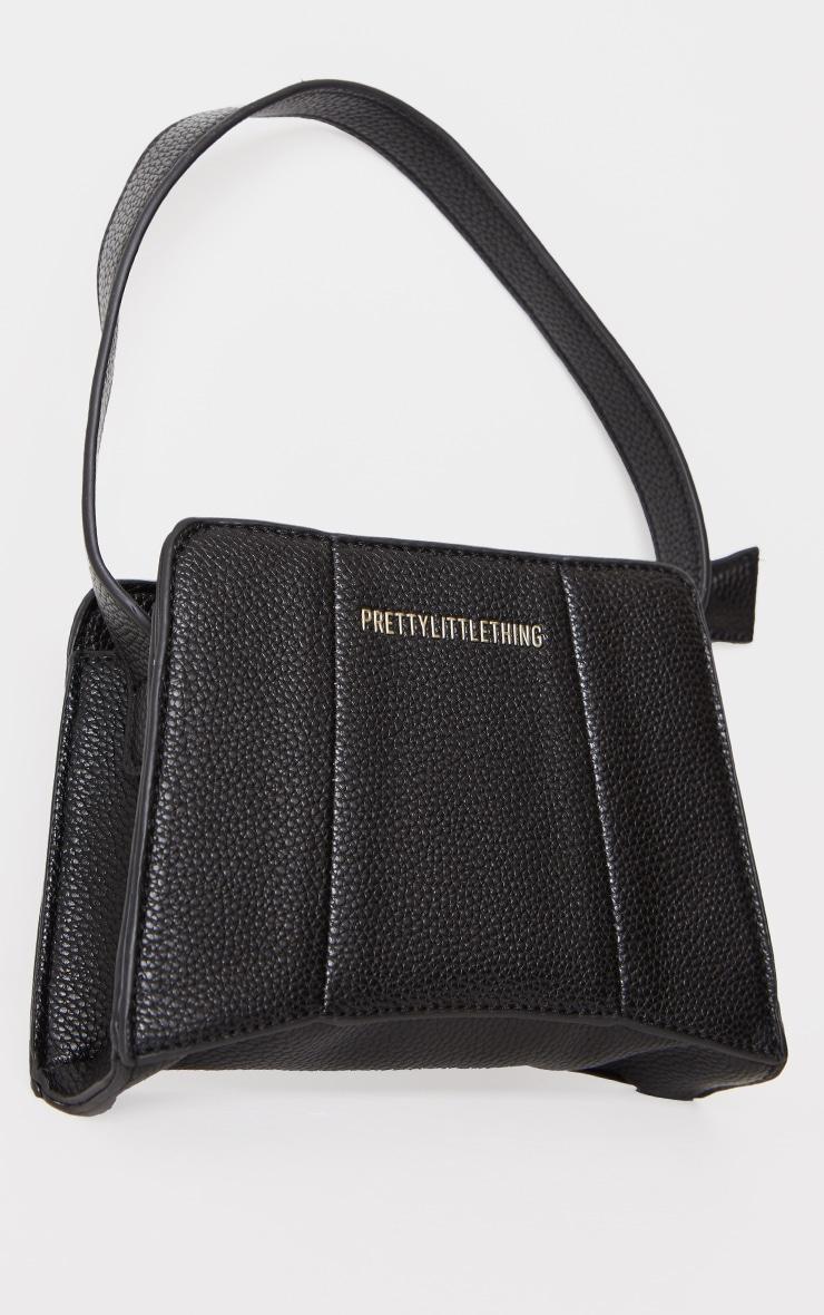 PRETTYLITTLETHING Black Triangular Shoulder Bag 1