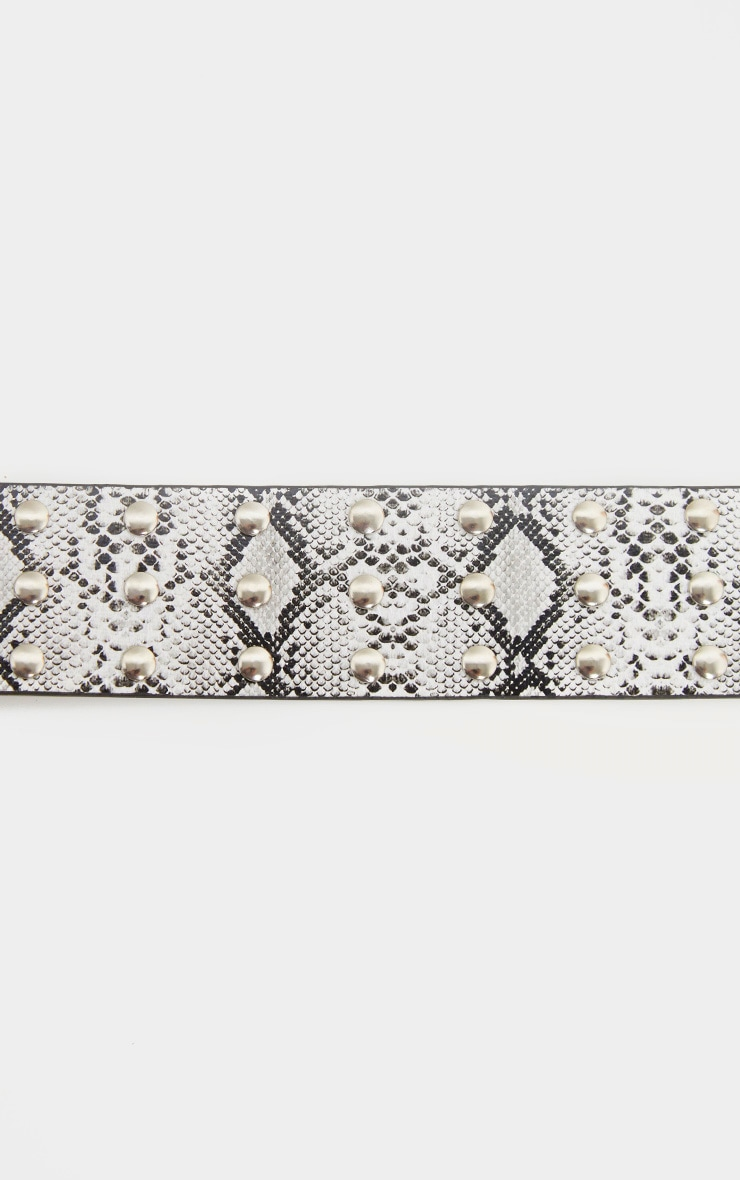 Snake Triple Row Studded Belt 3