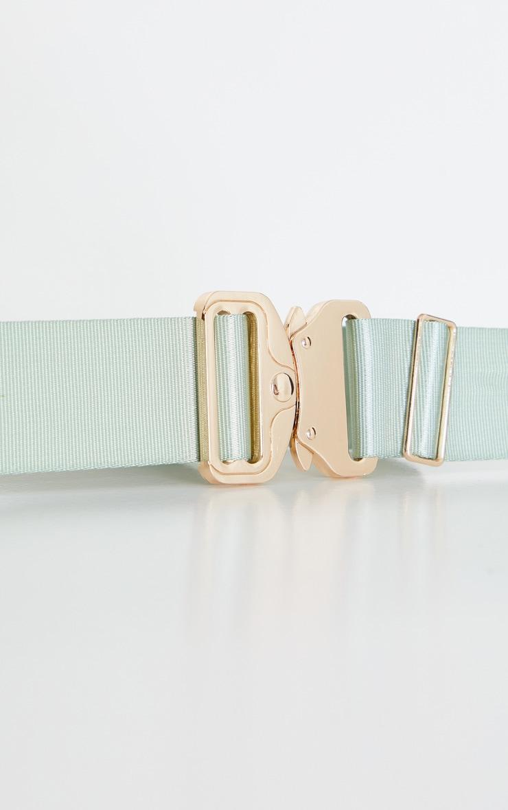 Sage Green Double Ribbon Tape Belt 2