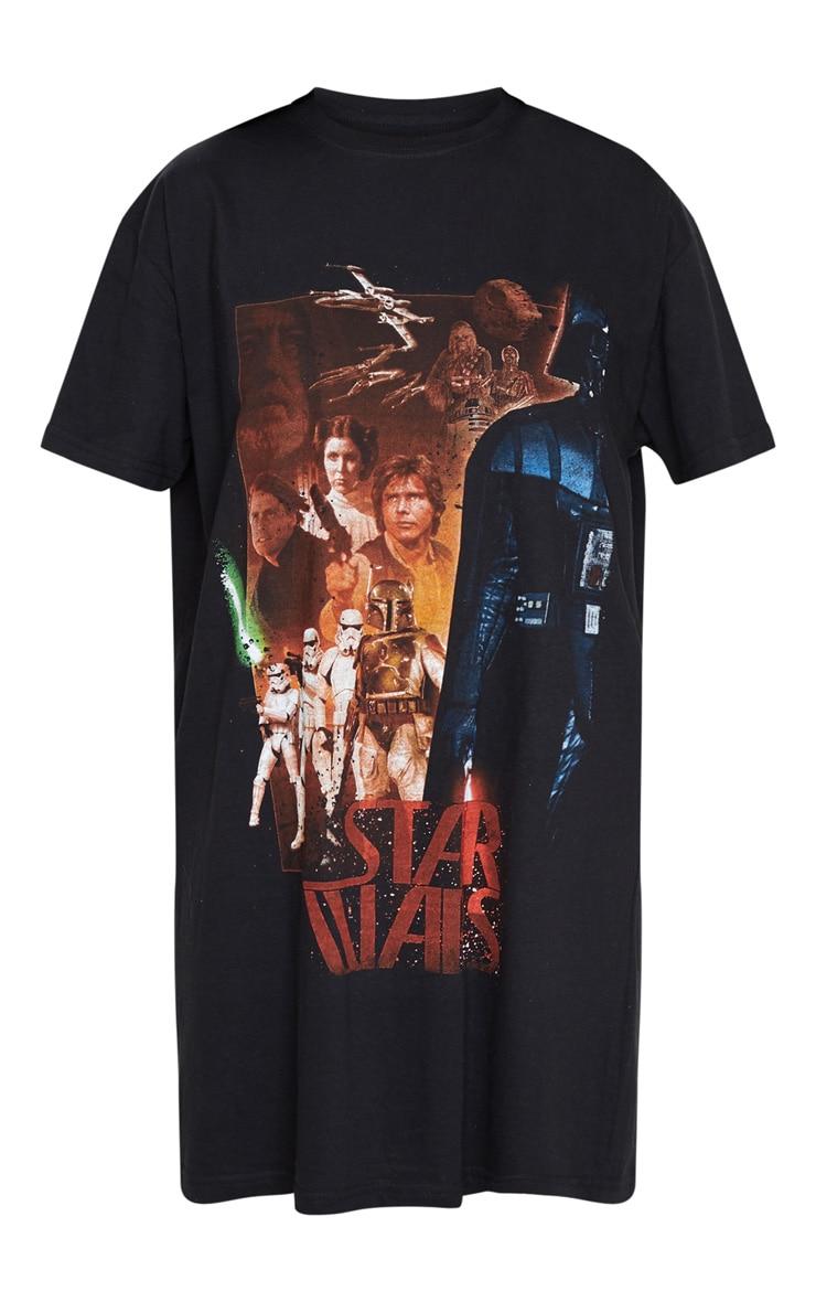 Black Star Wars Slogan T Shirt Dress 5