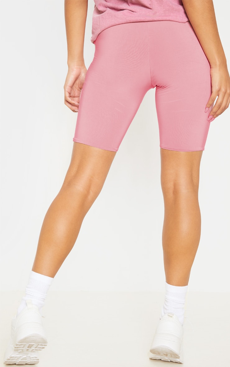 Bella Pink Slinky High Waisted Bike Shorts 5