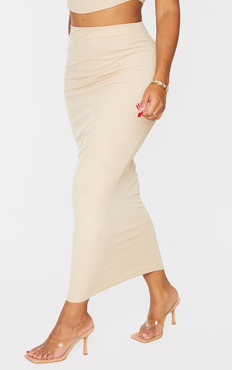 Shape Stone Mesh Midaxi Skirt 2