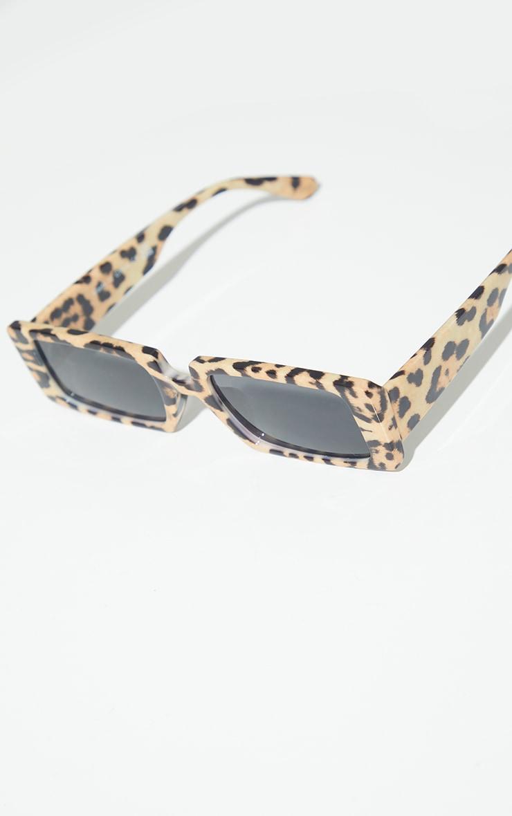 Light Leopard Square Frame Sunglasses 3