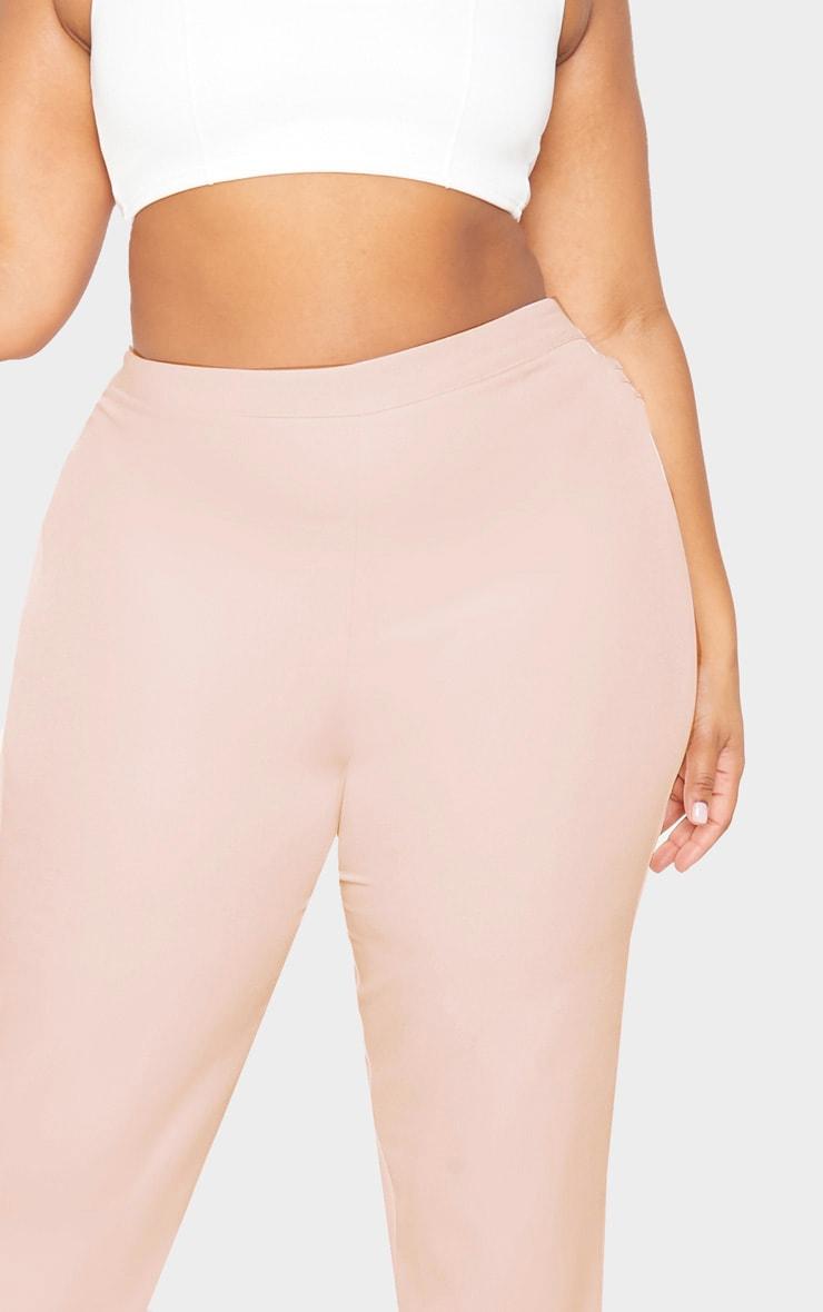 Plus Nude Pocket Detail Wide Leg Pants 5