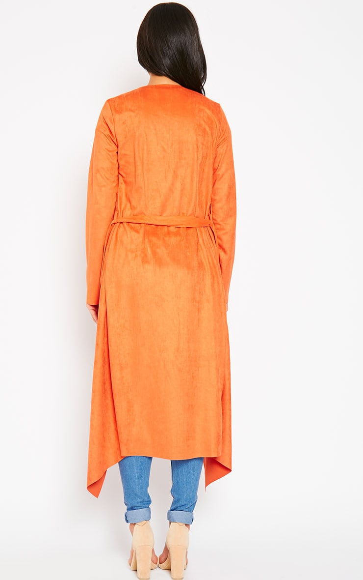 Liberty Orange Suede Waterfall Coat 2