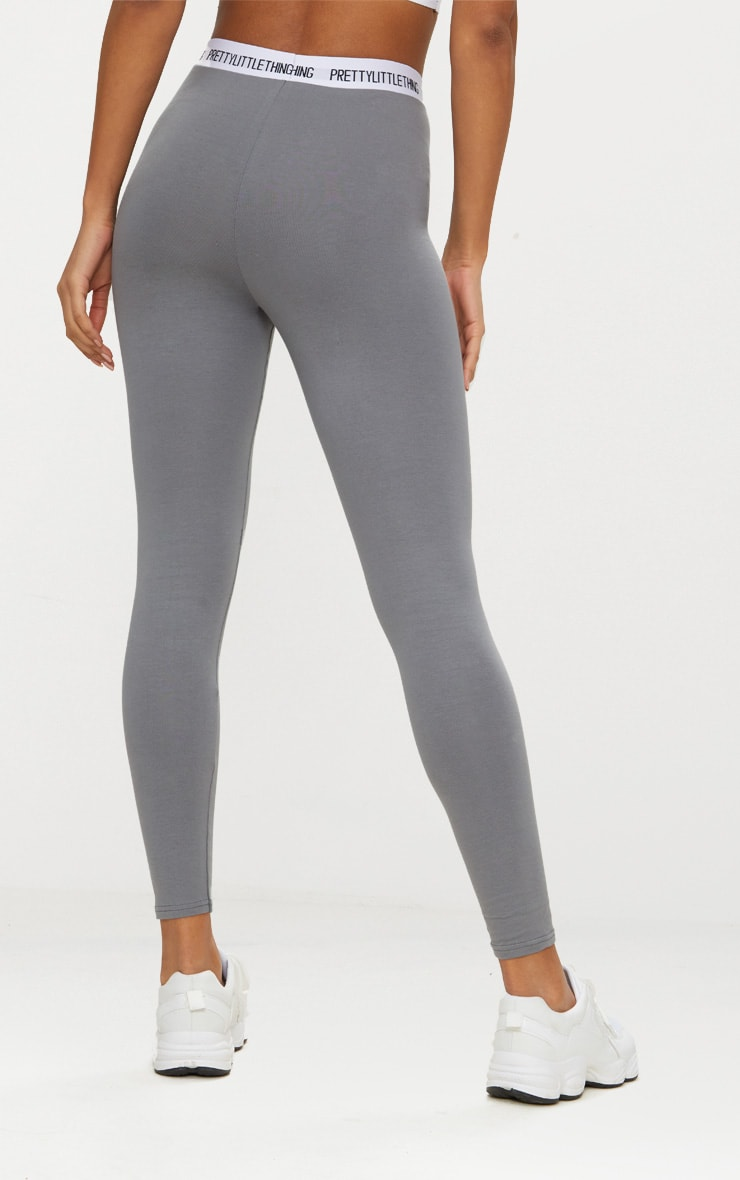 PRETTYLITTLETHING Charcoal Grey Leggings 3