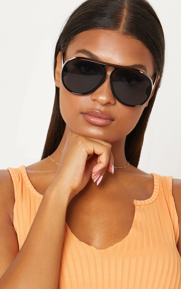 White Acrylic Aviator Sunglasses Pretty Little Thing oyqafHQJMB