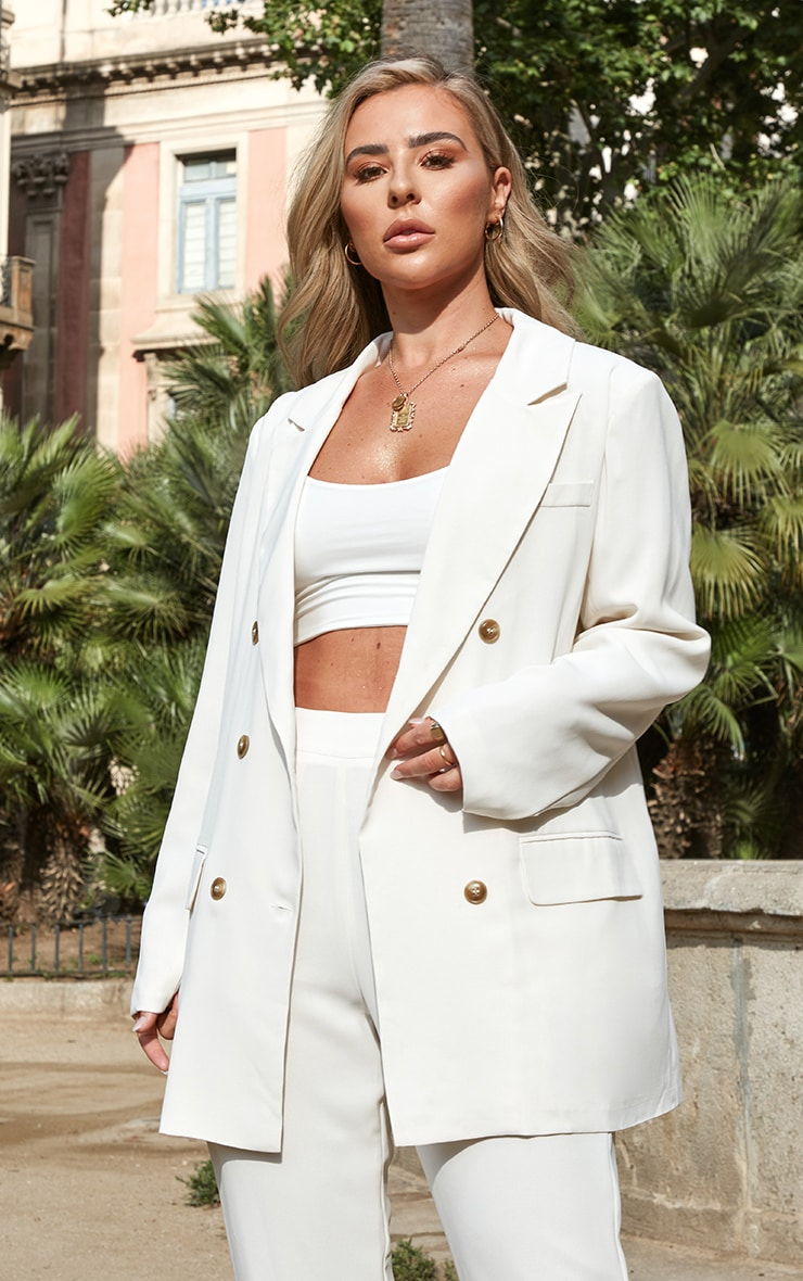 Petite Cream Tailored Blazer 1