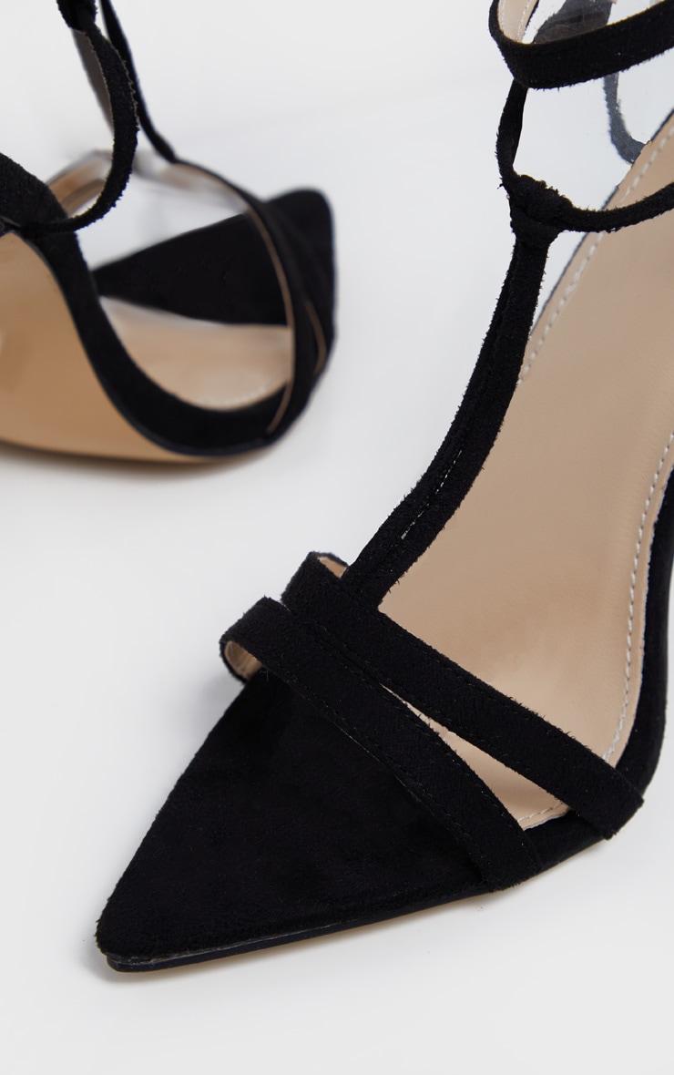 Sandales pointues noires à détail noeud 4