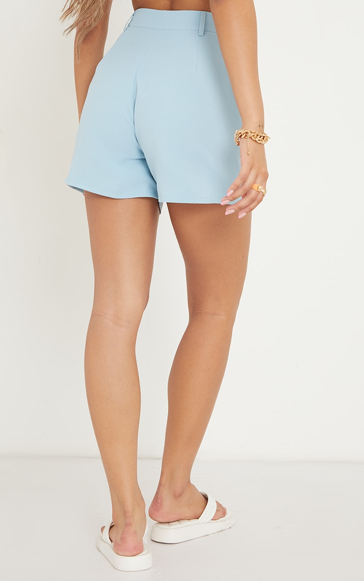 Blue Tailored City Shorts 3