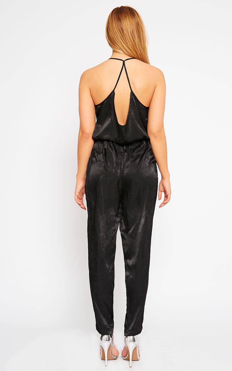 Lila Black Silky Wrap Jumpsuit 2
