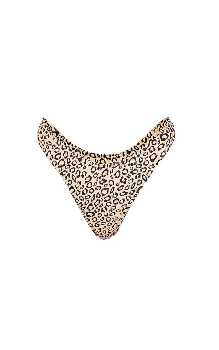 Stone Leopard Texture Thong Bikini Bottoms 5