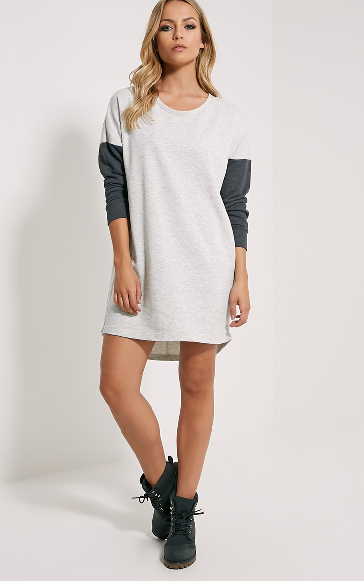 Milena Grey Jumper Dress 4