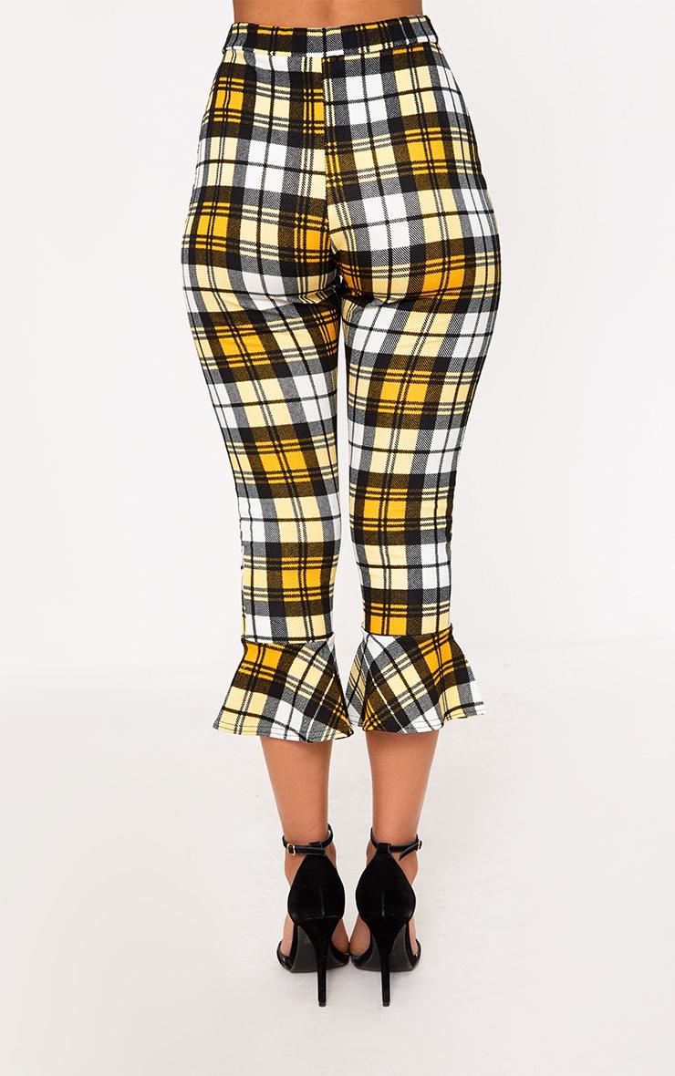 Yellow Check Flare Hem Trousers 3