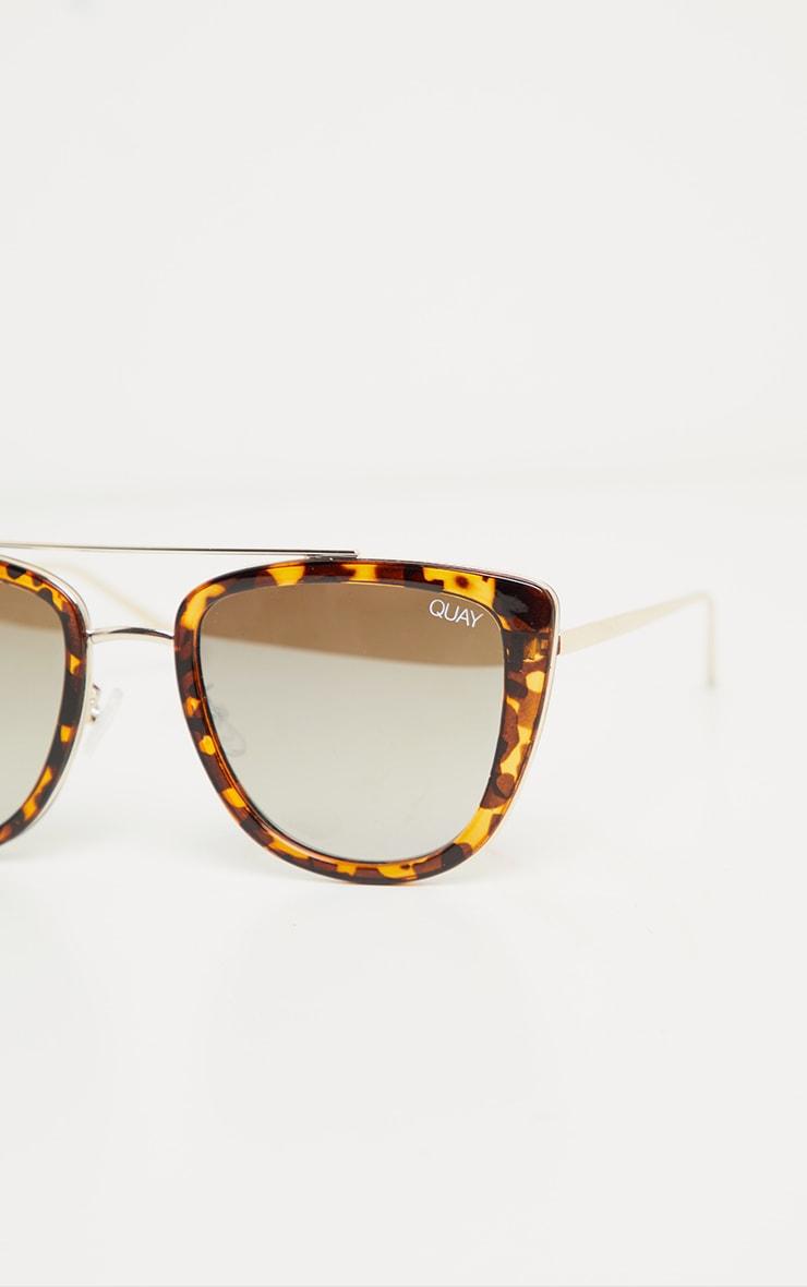 QUAY AUSTRALIA Tortoiseshell French Kiss Sunglasses 4