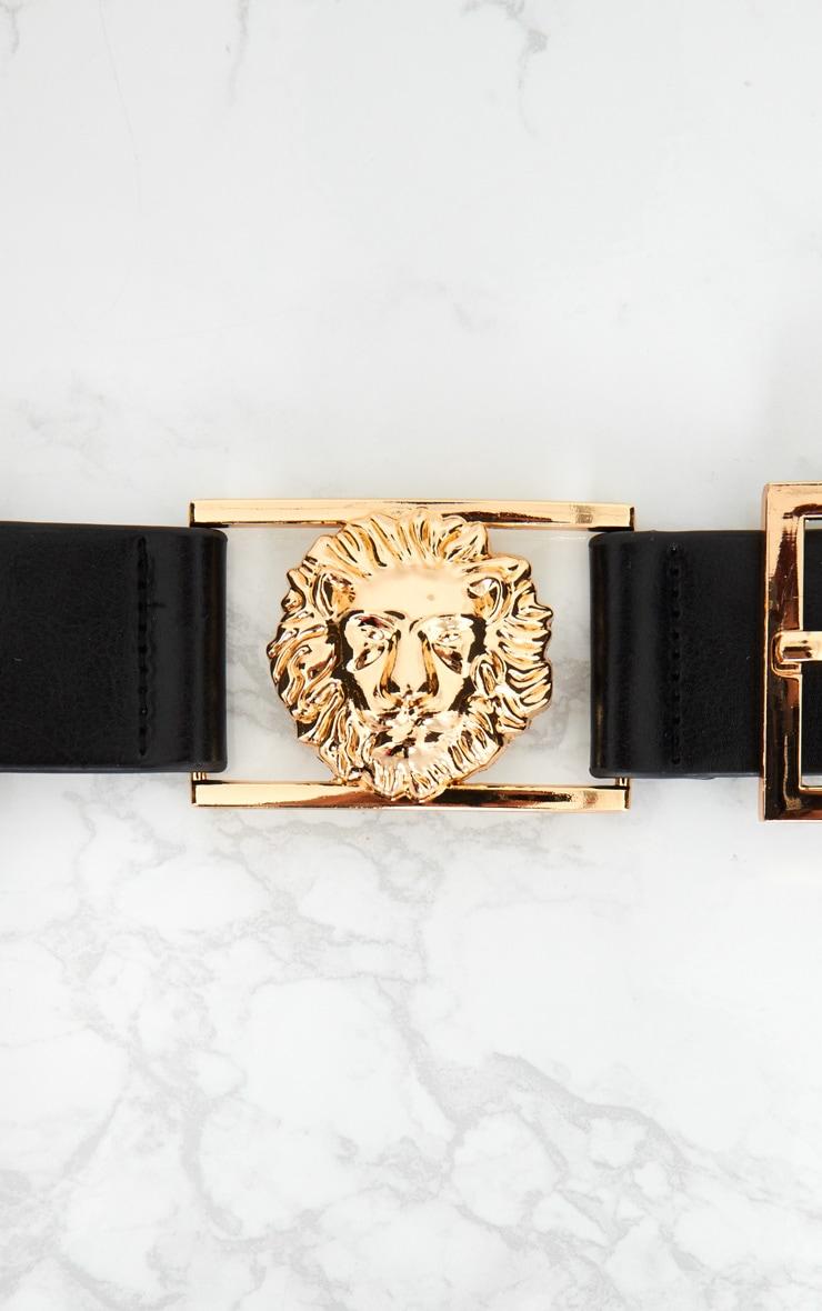 Black Lion Buckle Detail Belt 3