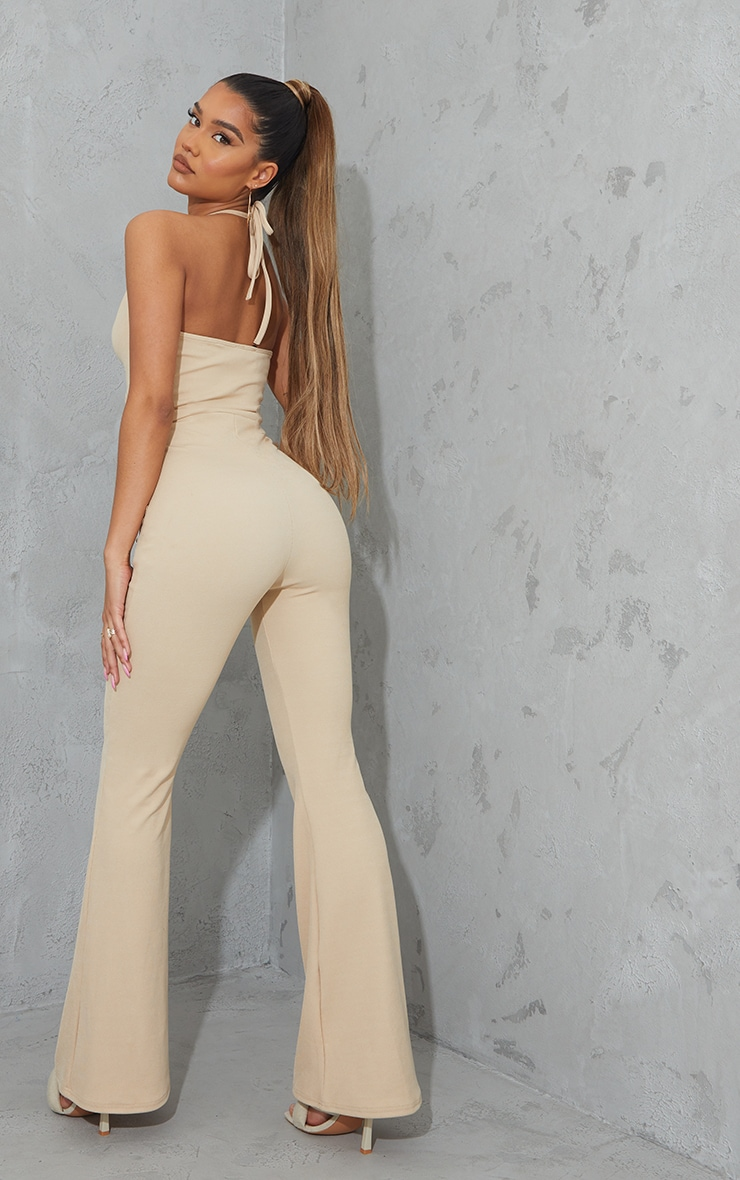 Stone Ruched Cut Out Strap Detail Jumpsuit 2