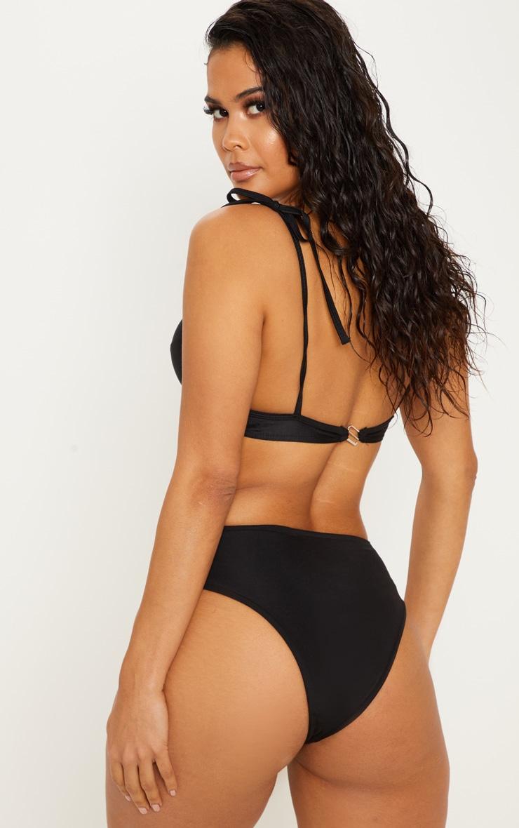 Black Knot Front Bikini Top 2