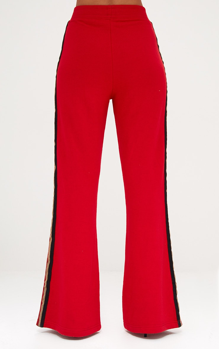 Red Flared Track Pants  5