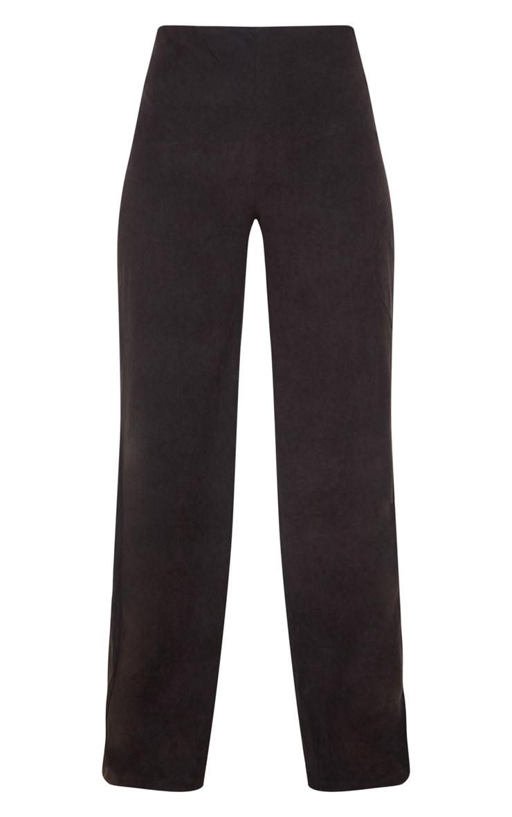 Black Suede Wide Leg Pants 3