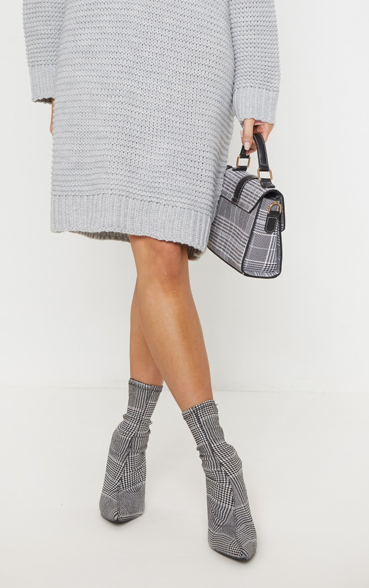 Grey Chunky Knitted Jumper Dress 5