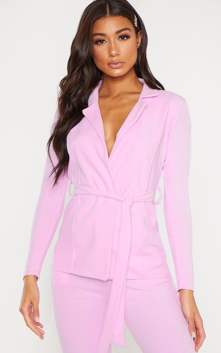 Lilac Belted Blazer