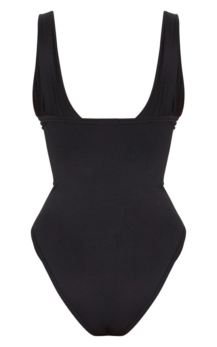 Body slinky noir à détails bonnets 6