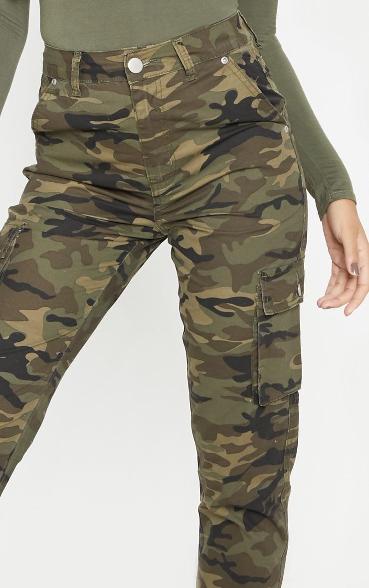 Khaki Camo Cargo Pocket Jeans 4
