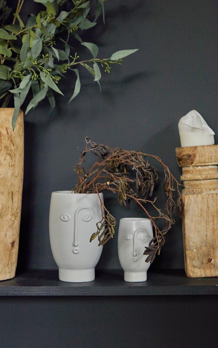 Grey Face Vase 1