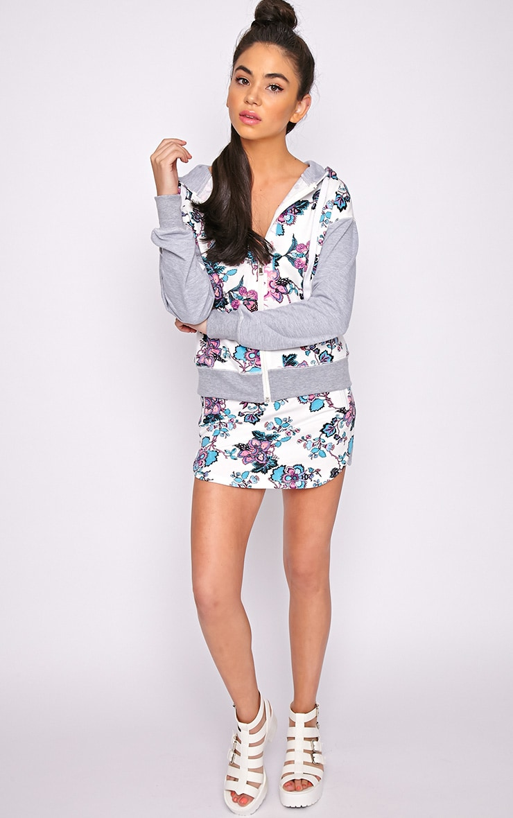 Kate Grey Print Skirt  5