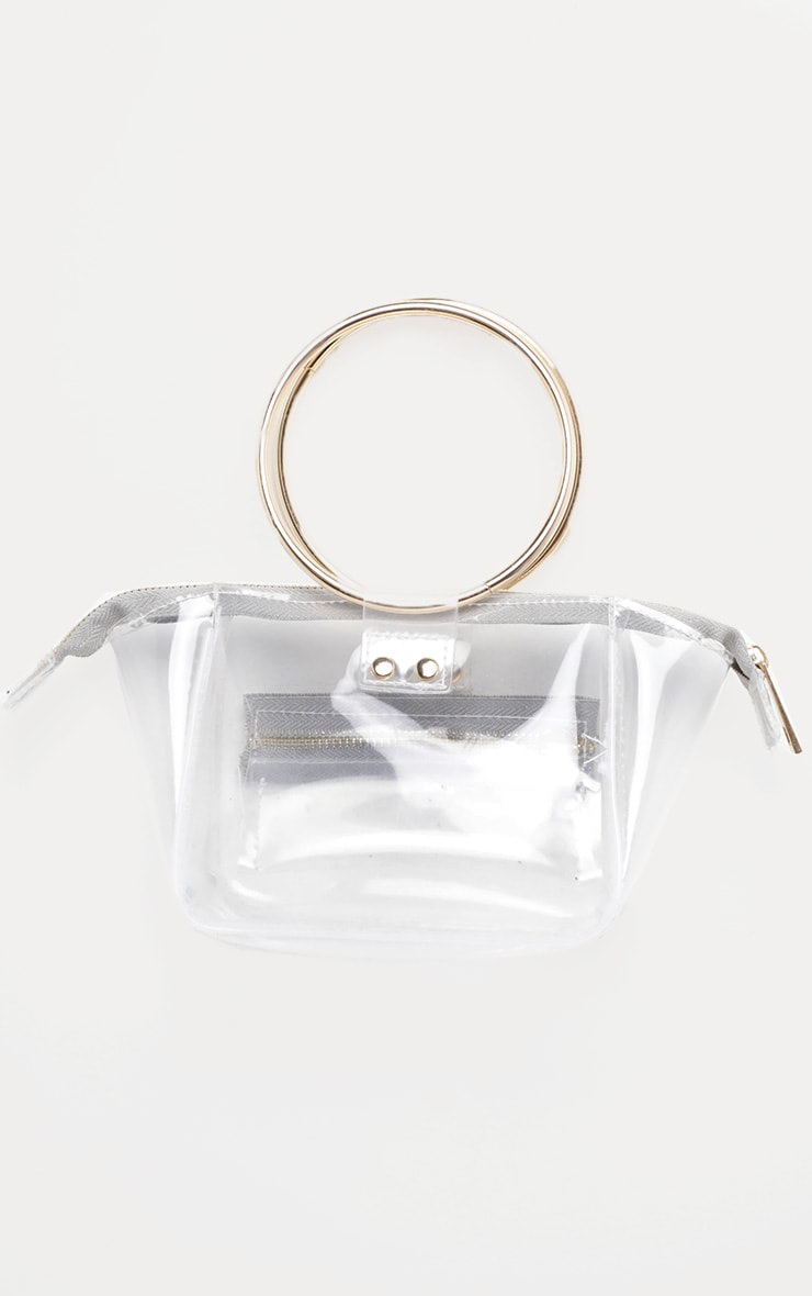 Clear With White Resin Circle Handle Mini Bag 2