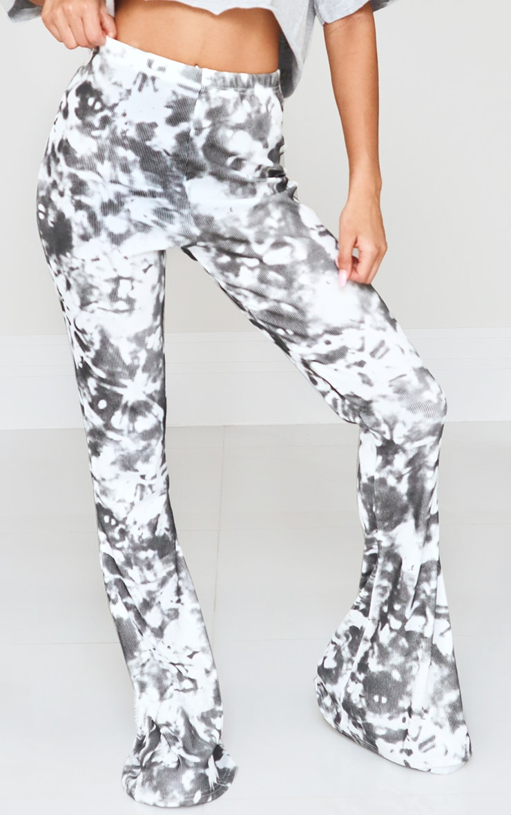 Black Flared Tie Dye Pants 2