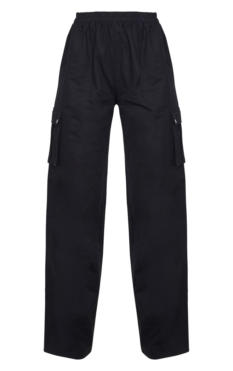 Black Wide Leg Cargo Trouser 3