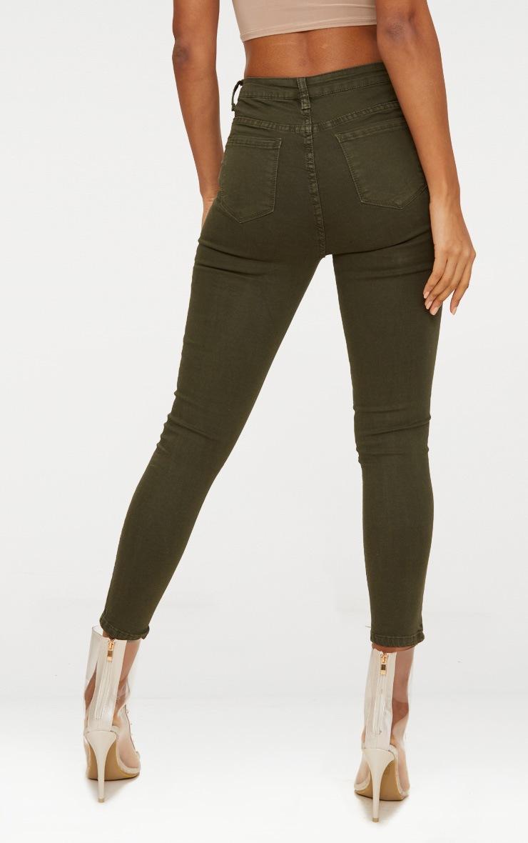 5 Pocket Khaki Skinny Jean 4