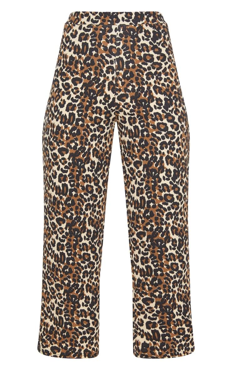 Tan Leopard Print Culotte 3