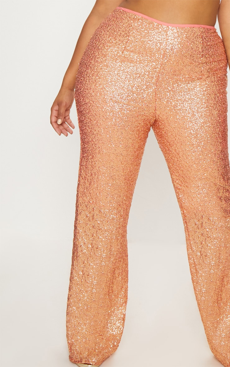 Plus Sequin Gold Flares 5