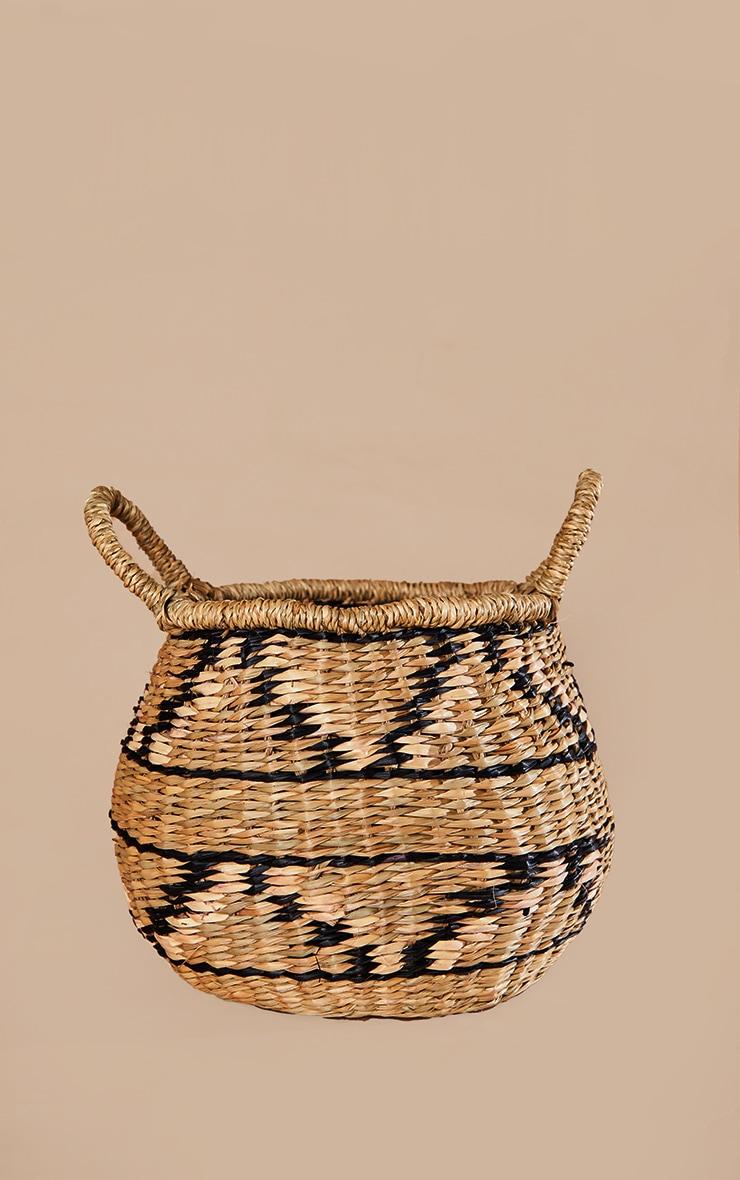 Seagrass Zig Zag Basket 3