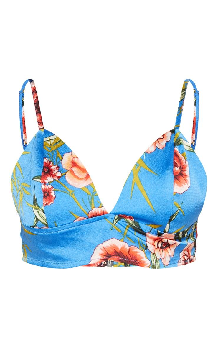 Blue Oriental Floral Bralet 3