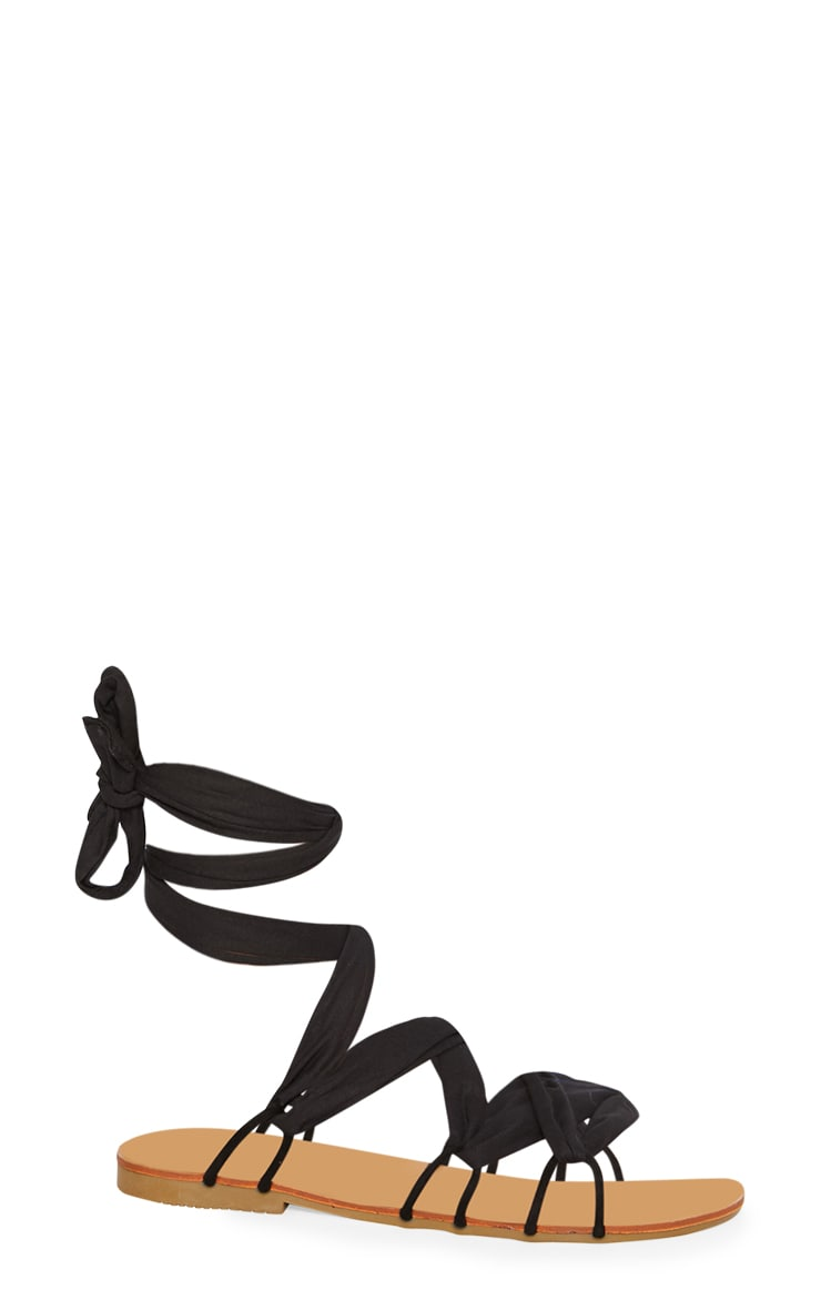 Black Ghillie Lace Up Sandal 3