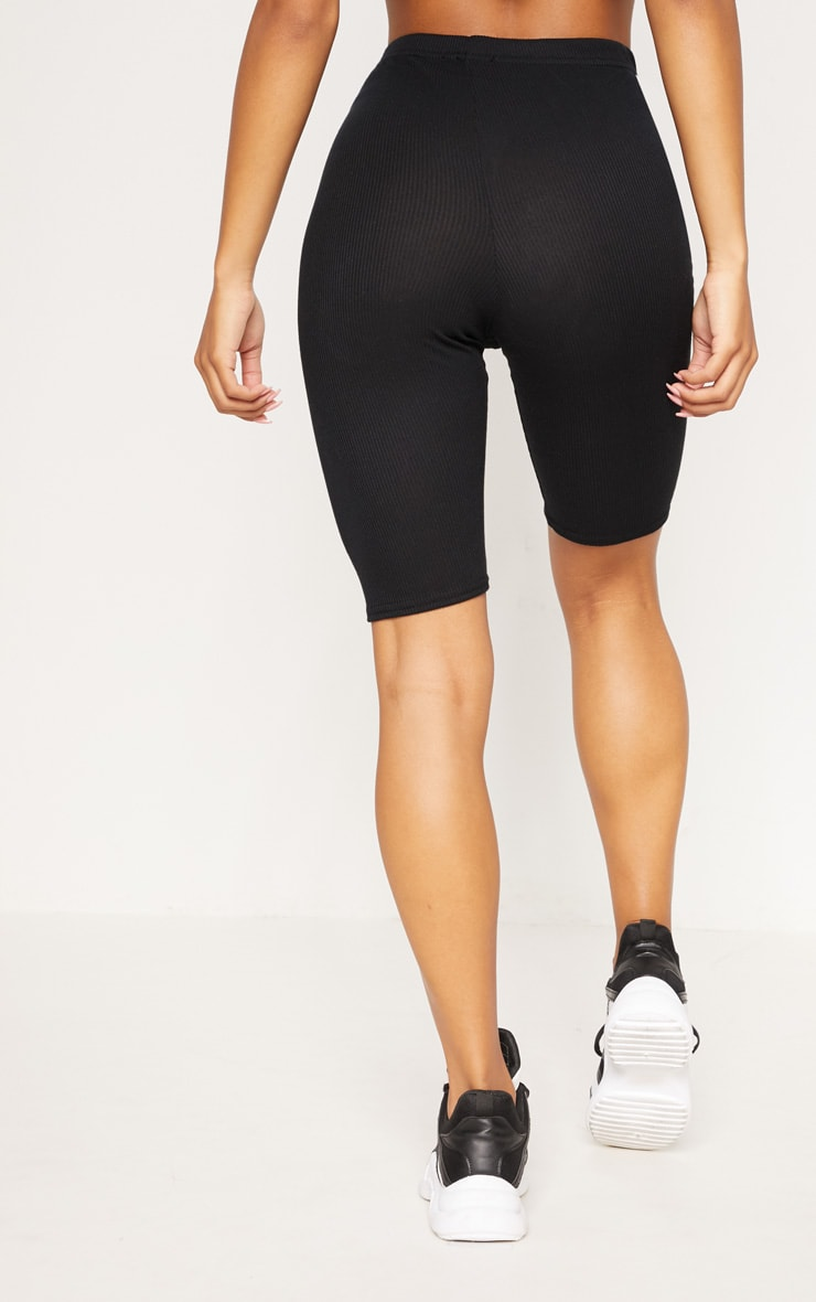 Black Rib Longline Cycle Short 4