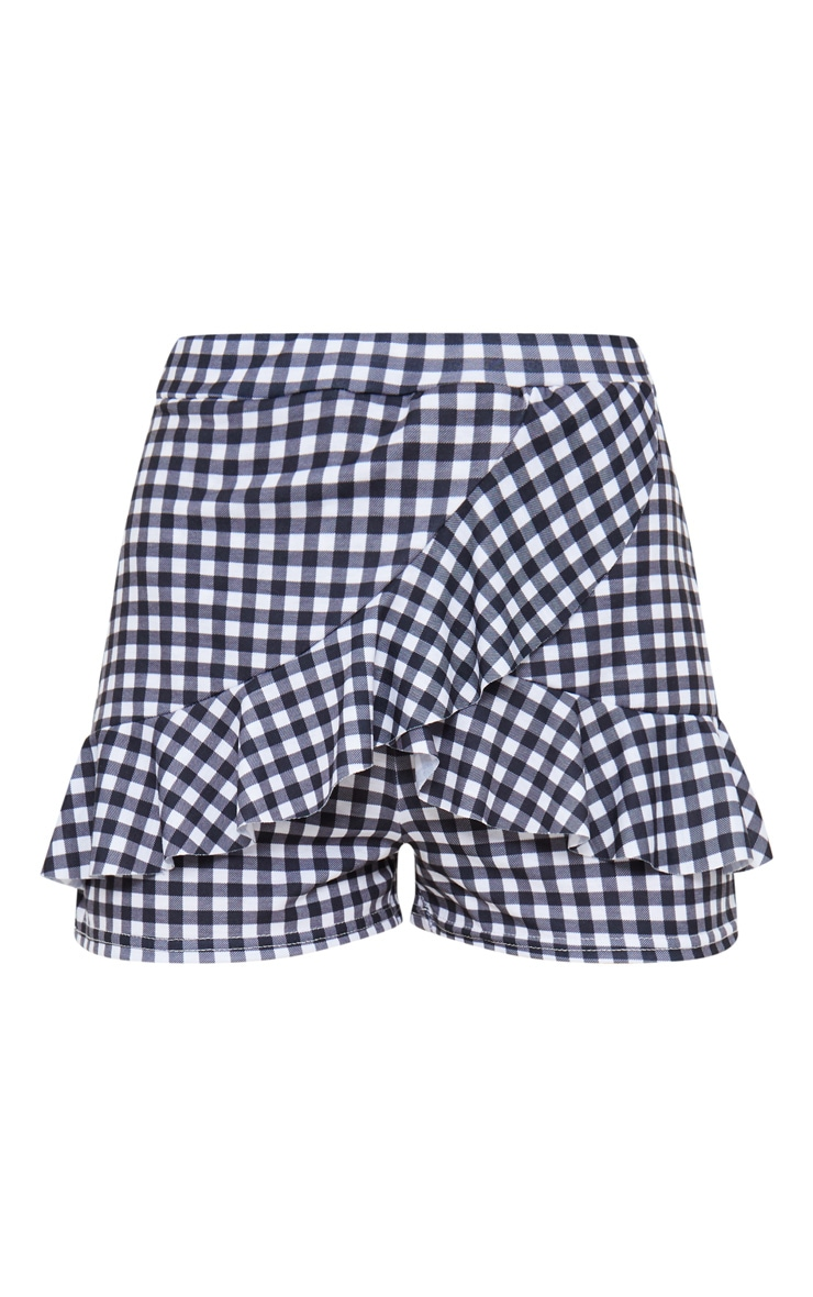 Gingham Frill Front Detail Short 3
