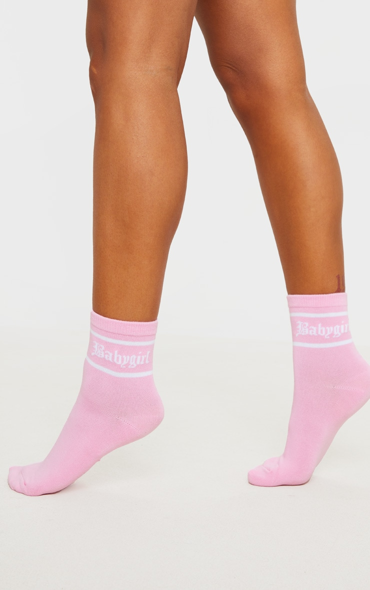 Pink Baby Girl Ankle Sock 1