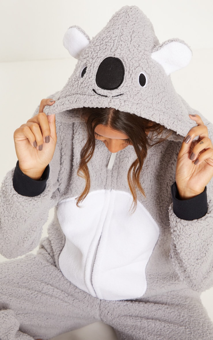 Koala Bear Grey Onesie 5