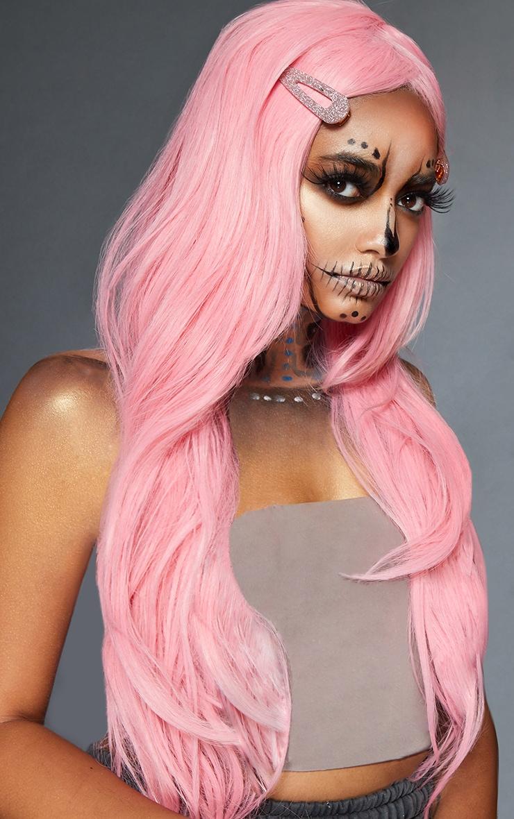 Baby Pink Premium Long Wig 1