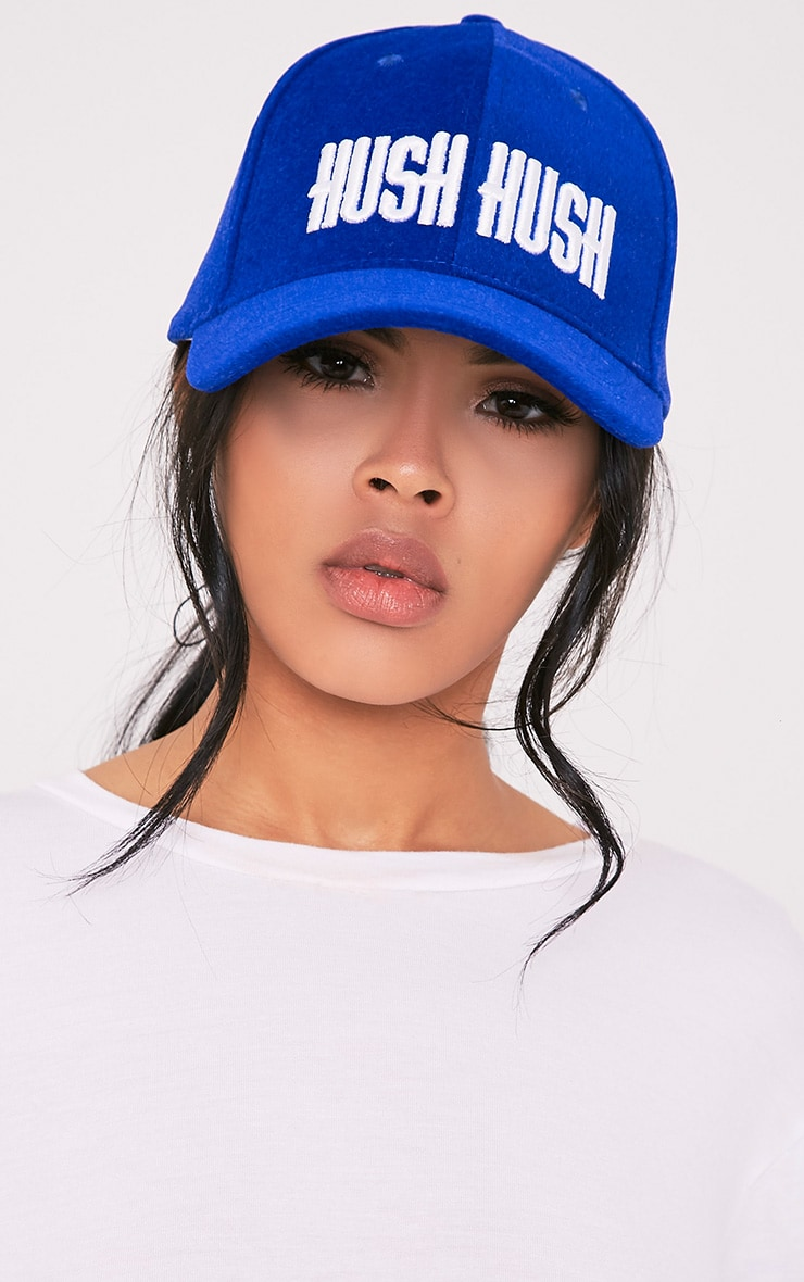 Hush Hush Blue Slogan Baseball Cap 1